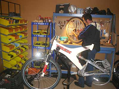 Bicycle Repair on Donated Bike